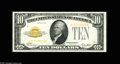 Small Size:Gold Certificates, Fr. 2400 $10 1928 Gold Certificate. Gem Crisp Uncirculated. A beautiful note with great centering, color, and embossing fit...