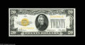 Small Size:Gold Certificates, Fr. 2402 $20 1928 Gold Certificate. Gem Crisp Uncirculated. A bright and boldly colored example with great centering....