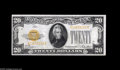 Small Size:Gold Certificates, Fr. 2402 $20 1928 Gold Certificate. Choice About Uncirculated. A well centered and snappy $20 1928 Gold Certificate with on...