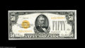 Small Size:Gold Certificates, Fr. 2404 $50 1928 Gold Certificate. About Uncirculated. The color and appearance are very nice, but there is a small interi...