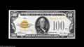 Small Size:Gold Certificates, Fr. 2405 $100 1928 Gold Certificate. Choice About Uncirculated. An attractive note which comes very close to the full uncir...