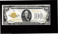 Small Size:Gold Certificates, Fr. 2405 $100 1928 Gold Certificate. About Uncirculated. A high grade example of this elusive denomination, but a bit tight...