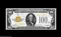 Small Size:Gold Certificates, Fr. 2405 $100 1928 Gold Certificate. Extremely Fine+++. There are three light folds, but this note has the appearance of a ...