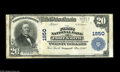 National Bank Notes:Arkansas, Fort Smith, AR - $20 1902 Plain Back Fr. 654 The First NB Ch. # 1950 A Very Fine note bearing the second title unde...