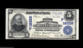 National Bank Notes:California, Bellflower, CA - $5 1902 Plain Back Fr. 609 The First NB Ch. # (P)12328 A marvelous note from a just plain rare Los Ang...