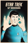 Movie/TV Memorabilia:Original Art, Star Trek - Rocco Malatesta - 50 - Live Long and Prosper...