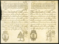 Colonial Notes:New Hampshire, New Hampshire May 20, 1717 Redated 1729 £3 10s - 4£ Uncut PairCohen Reprints Very Fine.. ...