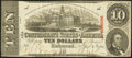 Confederate Notes:1863 Issues, T59 $10 1863 PF-8.. ...