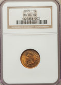 Indian Cents, 1895 1C MS64 Red NGC. NGC Census: (87/132). PCGS Population: (153/179). MS64. Mintage 38,343,636. ...