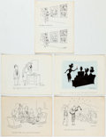 Cy Olson - Single-Panel Gags Original Art Group of 20 (c. 1960s) Comic Art