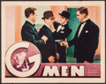 "Movie Posters:Crime, G-Men (First National, 1935). Lobby Card (11"" X 14""). Crime.. ..."