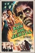 "Movie Posters:Horror, The Son of Dr. Jekyll (Columbia, 1951). One Sheet (27"" X 41""). Horror.. ..."