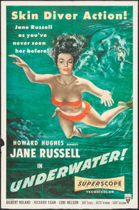 "Underwater! (RKO, 1955). One Sheet (27"" X 41""). Drama"