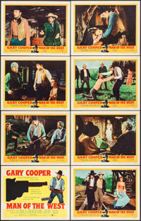 """Man of the West (United Artists, 1958). Lobby Card Set of 8 (11"""" X 14""""). Western. ... (Total: 8 Items)"""