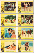 "Movie Posters:Rock and Roll, Surf Party (20th Century Fox, 1964). Lobby Card Set of 8 (11"" X14""). Rock and Roll.. ... (Total: 8 Items)"