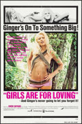 """Movie Posters:Sexploitation, Girls are for Loving (Continental, 1973). One Sheet (27"""" X 41"""")& Lobby Card Set of 8 (11"""" X 14""""). Sexploitation.. ... (Total:9 Items)"""