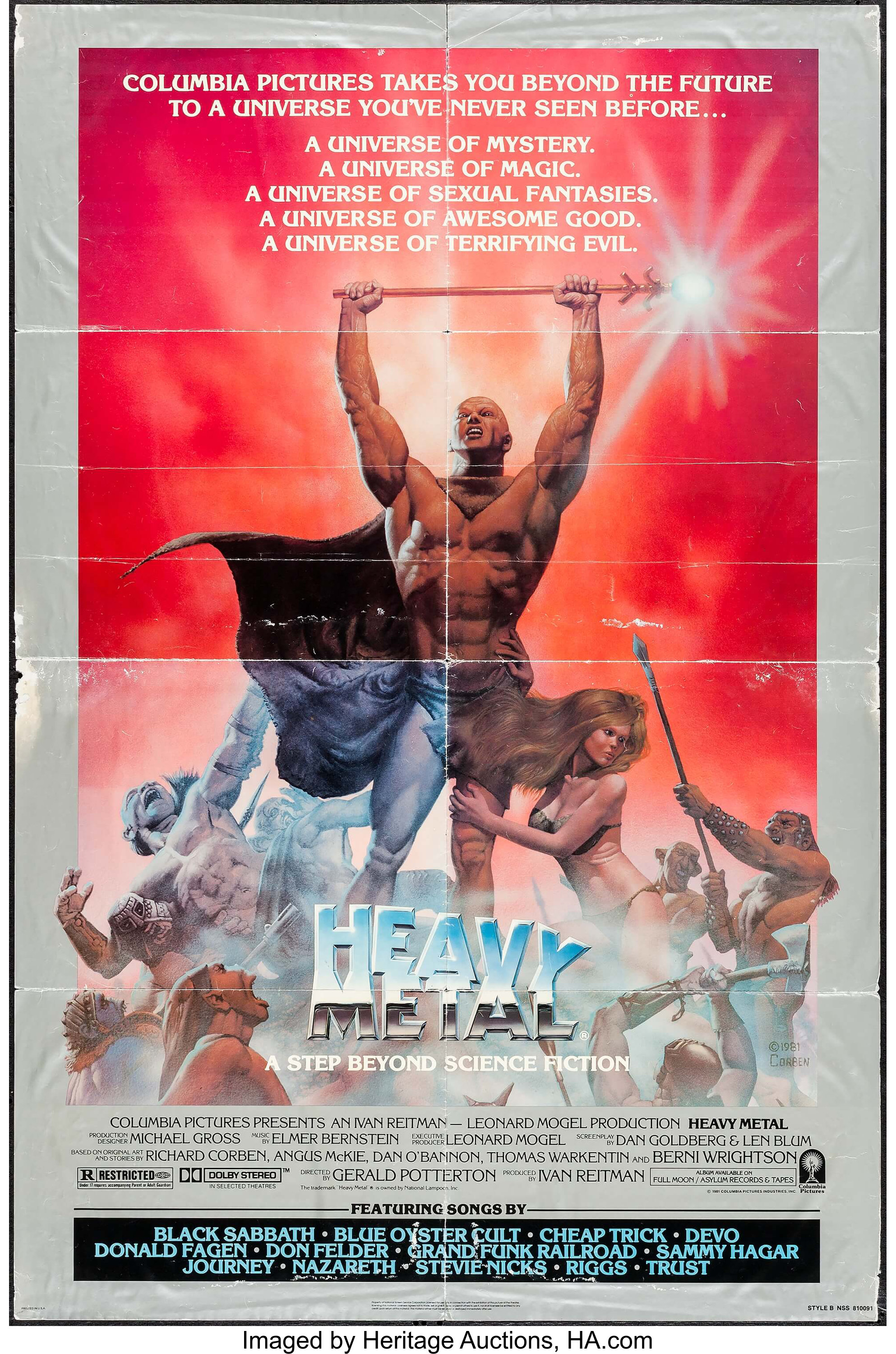 Heavy Metal Columbia 1981 One Sheet 27 X 41 Style B Lot 54184 Heritage Auctions