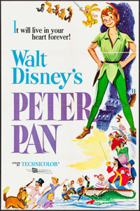 """Peter Pan & Others Lot (Buena Vista, R-1969). One Sheets (2) (27"""" X 41""""). Animation. ... (Total: 2 Ite..."""