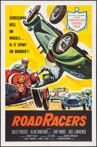 "RoadRacers (American International, 1959). One Sheet (27"" X 41"") & Lobby Cards (2) (11"" X 14""..."