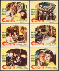 "Calcutta (Paramount, 1946). Lobby Cards (6) (11"" X 14""). Film Noir. ... (Total: 6 Items)"