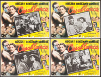 "Casablanca (Warner Brothers, R-1960). Mexican Lobby Cards (4) (12.5"" X 16.5""). Academy Award Winners. ... (Tot..."