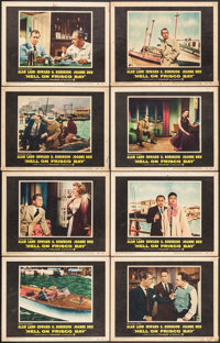 """Hell on Frisco Bay (Warner Brothers, 1955). Lobby Card Set of 8 (11"""" X 14""""). Crime. ... (Total: 8 Items)"""