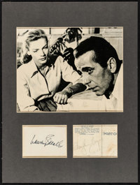 "Lauren Bacall & Humphrey Bogart in Key Largo (Warner Brothers, 1948). Matted Photo (8"" X 10"") &amp..."