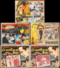 """Movie Posters:Film Noir, In a Lonely Place & Others Lot (Columbia, R-1951). Mexican Lobby Cards (5) (Approximately 12.75"""" X 16.5""""). Film Noir.. ... (Total: 5 Items)"""
