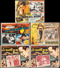 """In a Lonely Place & Others Lot (Columbia, R-1951). Mexican Lobby Cards (5) (Approximately 12.75"""" X 16.5&quo..."""