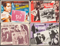 """Movie Posters:Film Noir, The Maltese Falcon & Others Lot (Warner Brothers, R-1960s). Mexican Lobby Cards (4) (16.5"""" X 12.5""""). Film Noir.. ... (Total: 4 Items)"""