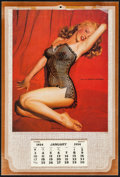 """Movie Posters:Miscellaneous, Marilyn Monroe by Tom Kelly (1954). Pin-up Calendar (9"""" X 13.5"""")Black Teddy Overlay. Miscellaneous.. ..."""