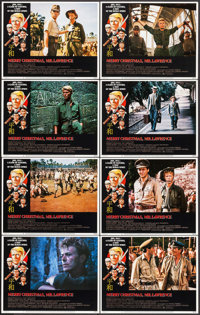 """Merry Christmas, Mr. Lawrence (Universal, 1983). Lobby Card Set of 8 (11"""" X 14""""). War. ... (Total: 8 Items)"""