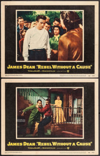 """Rebel without a Cause (Warner Brothers, 1955). Lobby Cards (2) (11"""" X 14""""). Drama. ... (Total: 2 Items)"""