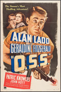 """Movie Posters:War, O.S.S. (Paramount, 1946). One Sheet (27"""" X 41""""). War.. ..."""