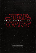 "Movie Posters:Science Fiction, Star Wars: The Last Jedi (Walt Disney Studios, 2017). One Sheet(27"" X 40"") DS Teaser. Science Fiction.. ..."