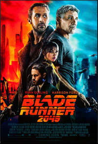 "Blade Runner 2049 (Warner Brothers, 2017). International One Sheet (27"" X 40"") DS Advance. Science Fiction..."