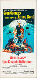 "Movie Posters:James Bond, Diamonds are Forever (United Artists, 1971). Italian Locandina (13"" X 27.5""). James Bond.. ..."
