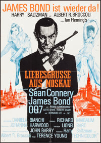 """From Russia with Love (United Artists, R-1970s). German A1 (23"""" X 33""""). James Bond"""