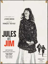 "Jules and Jim (Les Films du Carrosse, 1961). French Moyenne (23.5"" X 31.5""). Foreign"