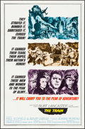 """Movie Posters:War, The Train (United Artists, 1965). One Sheet (27"""" X 41"""") Style A& Lobby Cards (9) (11"""" X 14""""). War.. ... (Total: 9 Items)"""