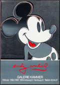 "Movie Posters:Miscellaneous, Mickey Mouse by Andy Warhol (Galerie Kammer, 1982). Poster (23.25""X 30""). Miscellaneous.. ..."