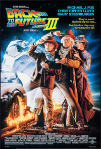 "Back to the Future Part III (Universal, 1990). One Sheet (26.75"" X 39.75"") DS. Science Fiction"
