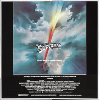 """Superman the Movie (Warner Brothers, 1978). Six Sheet (80"""" X 80""""). Action"""