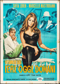 "Yesterday, Today and Tomorrow (Interfilm, 1963). Italian 2 - Fogli (28.75"" X 54.75""). Foreign"