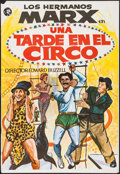 "Movie Posters:Comedy, At the Circus (MGM, R-1970s). Folded, Fine/Very Fine. Spanish OneSheet (27"" X 39""). Comedy.. ..."
