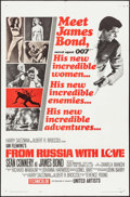 "Movie Posters:James Bond, From Russia with Love (United Artists, 1964). One Sheet (27"" X 41"") Style A. James Bond.. ..."