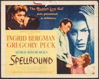 "Spellbound (United Artists, 1945). Title Lobby Card (11"" X 14""). Hitchcock"