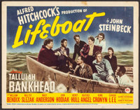 "Lifeboat (20th Century Fox, 1944). Title Lobby Card (11"" X 14""). Hitchcock"