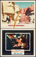 """Movie Posters:Hitchcock, Strangers on a Train & Other Lot (Warner Brothers, 1951). LobbyCards (2) (11"""" X 14""""). Hitchcock.. ... (Total: 2 Items)"""