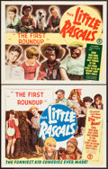 "Movie Posters:Comedy, Little Rascals in the First Round Up (Monogram, R-1950s). StockLobby Cards (2) (11"" X 14""). Comedy.. ... (Total: 2 Items)"